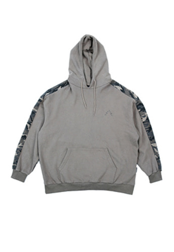 AJO BY AJO아조바이아조 Over Twofold Camo Hood (Warm Grey)