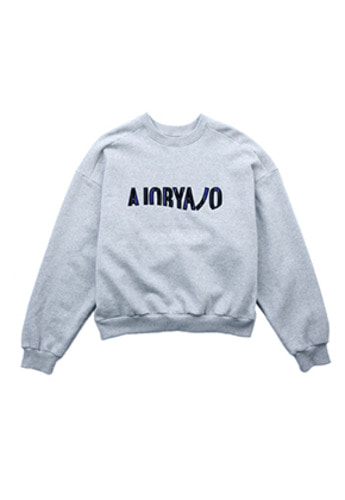 AJO BY AJO아조바이아조 Over Sweatshirt (Grey)