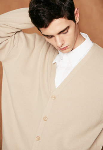 Voiebit브아빗 V514 BASIC SOFT KNIT CARDIGANBEIGE