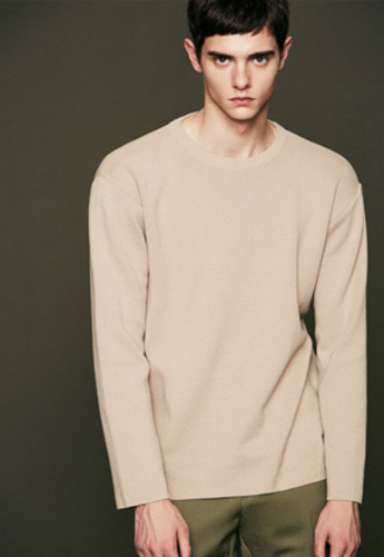 Voiebit브아빗 V516 BASIC SOFT ROUND KNITBEIGE