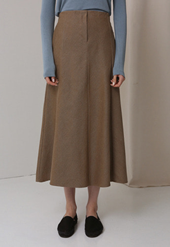 More or Less모어올레스 MINIMAL LONG COTTON SKIRTBEIGE