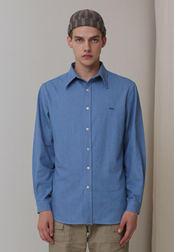 More or Less모어올레스 (UNISEX) MOL OXFORD SHIRTSDENIM BLUE
