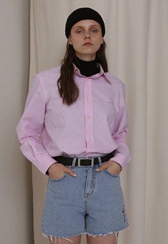 More or Less모어올레스 (UNISEX) MOL OXFORD SHIRTSPINK