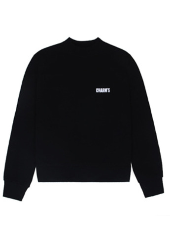 Charm's참스 Basic small logo Sweatshirt Black