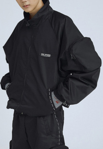 ESC Studio이에스씨스튜디오 pocket training jumper black