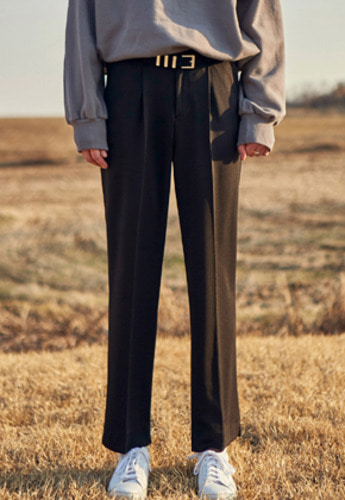 Yan13얀써틴 SOFT LONG SLACKS_BLACK