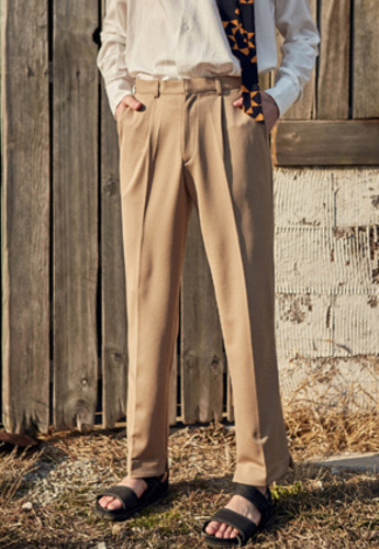 Yan13얀써틴 SOFT LONG SLACKS_BROWN