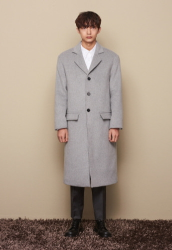 STU에스티유 3BUTTON SINGLE COAT GRAY
