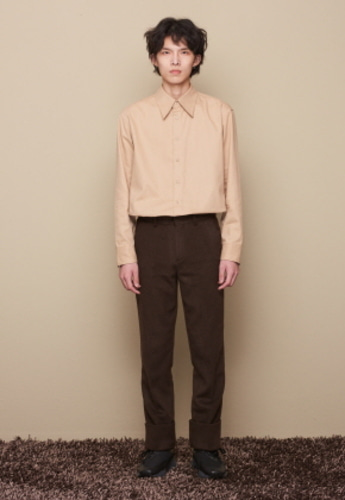 STU에스티유 PEAKED COLLAR SHIRT BEIGE