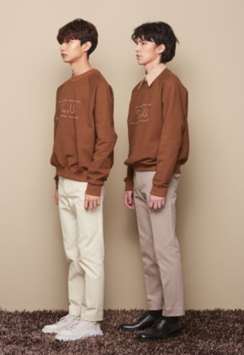STU에스티유 AAAA SWEATSHIRT BROWN
