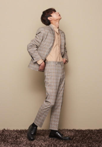 STU STRAIGHT FIT CHECKL SLACKS (SOLD OUT)