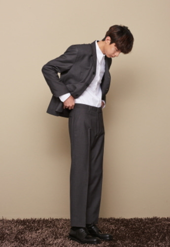 STU에스티유 STRAIGHT FIT SLACKS GRAY
