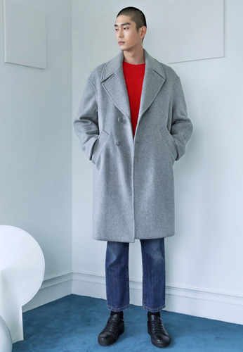 Trwa트와 OVERSIZE COAT(LIGHTGRAY)
