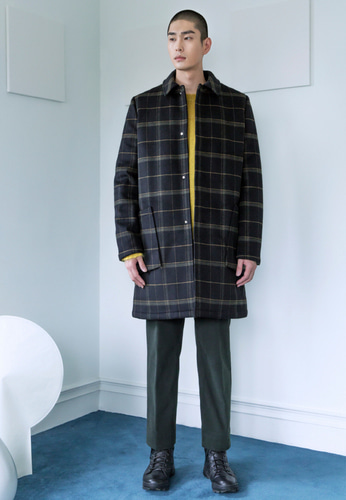 Trwa트와 TARTAN CHECK PADDED COAT