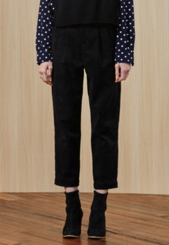 Ampersand앰퍼샌드 High-waist Boy PANTS - BLACK