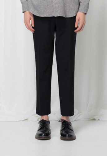 Reve De Agneau레브드앙뉴 FLEXIBLE BANDING SLACKS(BLACK)