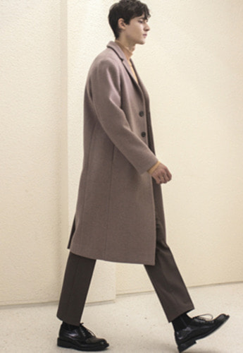 Anderssonbell앤더슨벨 PETERSSON CASHMERE SINGLE COAT awa115m M/Pink