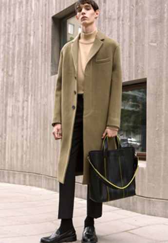 Anderssonbell앤더슨벨 PETERSSON CASHMERE SINGLE COAT awa115m Khaki Beige