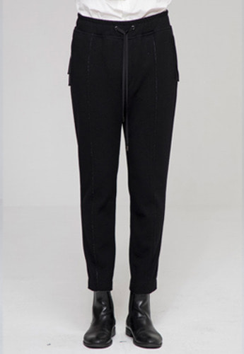 Noirer노이어 Raw-Cut Lounge Slim Pants