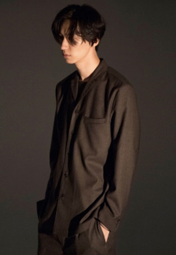 Noirer노이어 Wool Tailored Shirts Jacket Brown