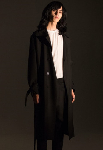 Noirer노이어 Belted Wool Trenchcoat