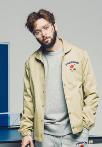 FRIZMWORKS프리즘웍스 FZ PINGPONG CLUB COACH JACKET BEIGE