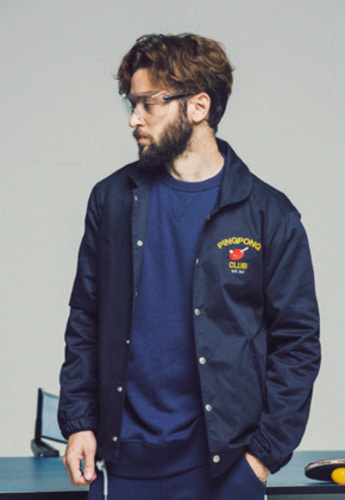 FRIZMWORKS프리즘웍스 FZ PINGPONG CLUB COACH JACKET NAVY