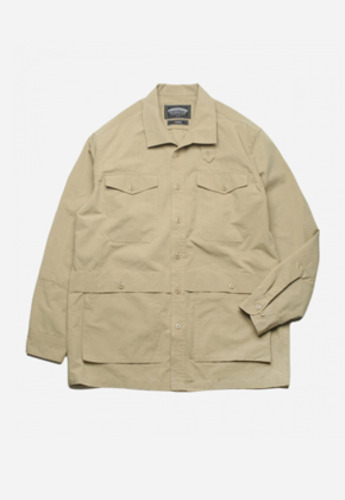 FRIZMWORKS프리즘웍스 TACTICAL SHIRT JACKET BEIGE