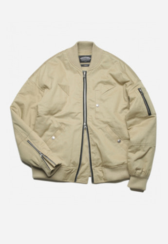 FRIZMWORKS프리즘웍스 CLOUT MA-1 FLIGHT JACKET BEIGE