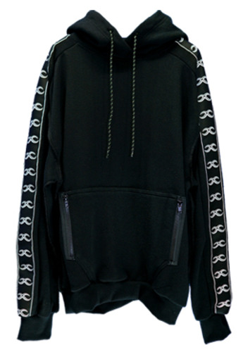 MPQ엠피큐 KAI_WASHED COTTON HOOD SWEATER (BLACK)