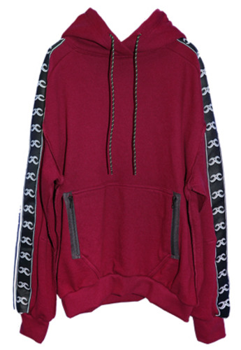 MPQ엠피큐 KAI_WASHED COTTON HOOD SWEATER (BURGUNDY)