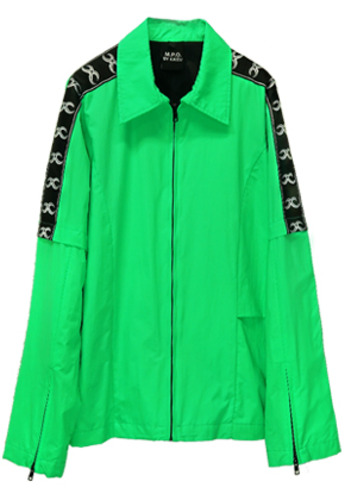 MPQ엠피큐 KAI_TRACK SUIT JUMPER (NEON GREEN)