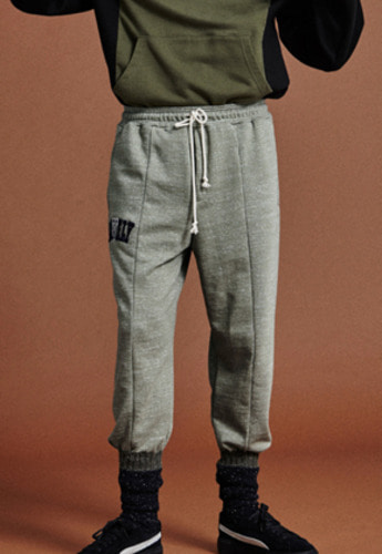 NOHANT노앙 LONELY/LOVELY LOGO SWEATPANTS OLIVE