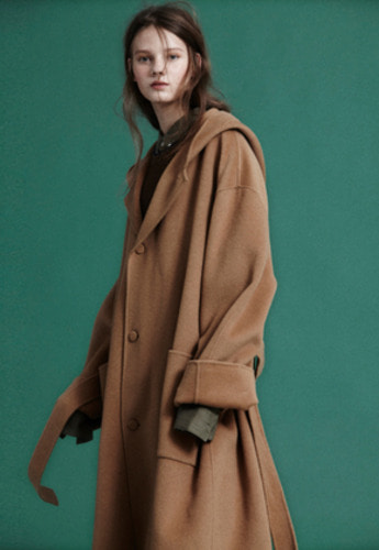 NOHANT노앙 HANDMADE SOFT HOODED COAT CAMEL