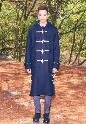 Freiknock프라이노크 Hooded Duffle Long Coat (NAVY)