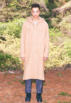 Freiknock프라이노크 Hooded Duffle Long Coat (BEIGE)