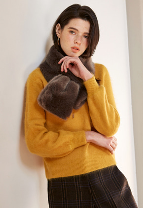 Yan13얀써틴 ROMANTIC ANGORA KNIT_YELLOW