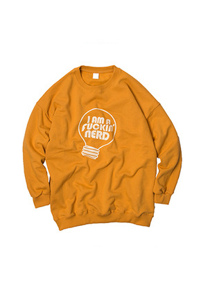 SANDPIPER샌드파이퍼 NERD SWEAT SHIRTS(Mustard)