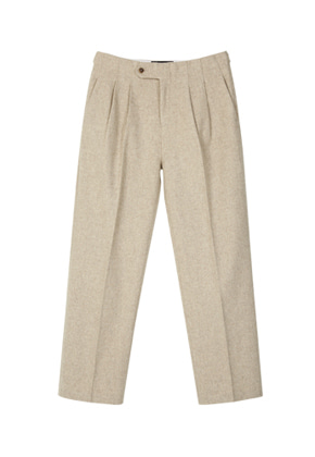 Anderssonbell앤더슨벨 MELTON TWO TUCK WIDE TROUSER apa206m M/Beige