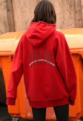 Anderssonbell앤더슨벨 UNISEX ARCH SLOGAN A.PATCH HOODIE atb174u M/RED