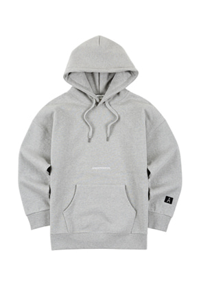 Anderssonbell앤더슨벨 UNISEX ARCH SLOGAN A.PATCH HOODIE atb174u Gray