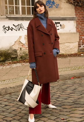 Anderssonbell앤더슨벨 AVALON OVERSIZED DOUBLE COAT awa096w Brick