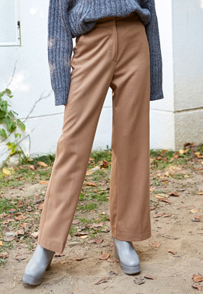 Yan13얀써틴 WIDE WOOL SLACKS_BEIGE