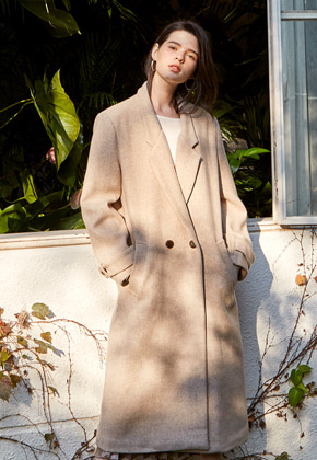Yan13얀써틴 CLASSIC LONG COAT_BEIGE