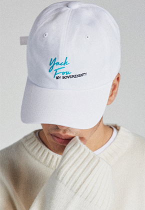 Takemethere테이크미데어 YUCK FOU Embroidered Ballcap (White)