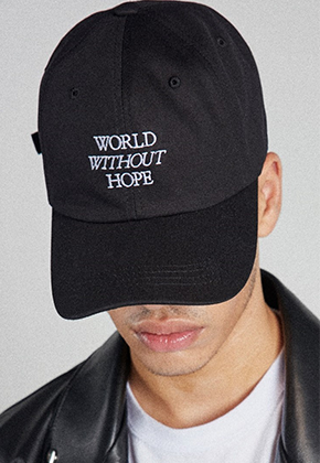 Takemethere테이크미데어 WORLD WITHOUT HOPE Embroidered Ballcap (Black)