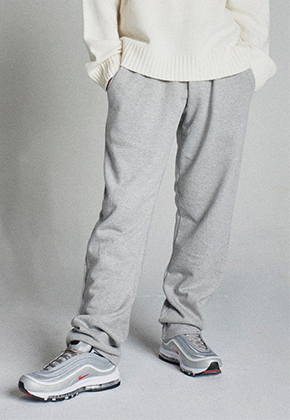 Takemethere테이크미데어 Relaxed Sweatpants (Light Grey)
