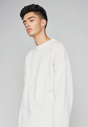 Takemethere테이크미데어 Oversized Heavy Lambswool Knit (White)