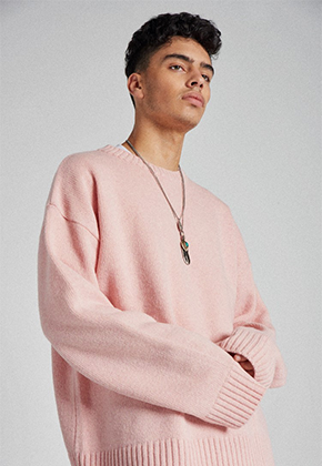 Takemethere테이크미데어 Oversized Heavy Lambswool Knit (Pink)