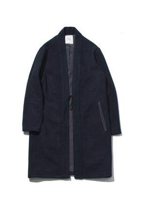 Gakuro가쿠로 Oriental Wool Coat Black/Navy
